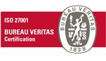 ISO 27001 BUREAU VERITAS Certification 登録情報