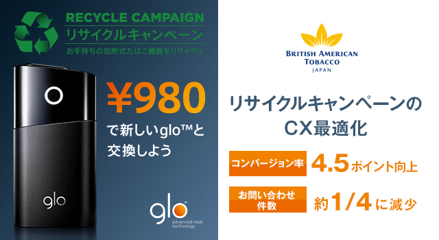 Optimized recycle campaign CX Conversion rate UP 4.5 points #of inquiries Dropped by c.75%